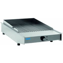 Płyta grillowa elektryczna ryflowana nastawna | 370x370mm | 3400W
