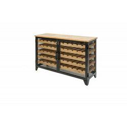 INVICTA szafka na wino BODEGA 127 cm - drewno sosnowe, żelazo
