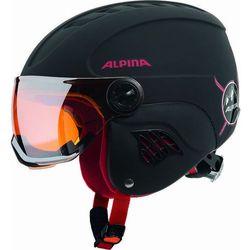 ALPINA CARAT LE VISIER HM BLACK RED KASK NARCIARSKI R. 48-52