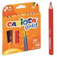 Kredki, Kredki ołówkowe Baby 10 kolorów CARIOCA