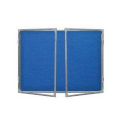 Gablota informacyjna tekstylna 180x120 niebieska