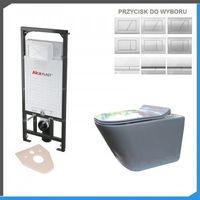 Stelaże i zestawy podtynkowe, Kompletny zestaw podtynkowy do WC z misą WC Roca Gap Rimless Maxi Clean