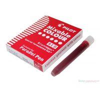 Pozostałe przybory do pisania, 6 nabojów do pióra Parallel Pen Czerwony