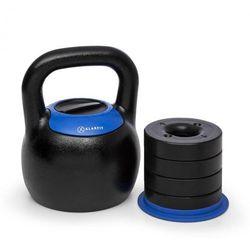 KLARFIT Adjustabell, regulowany kettlebell, 16/18/20/22/24 kg, czarny / niebieski