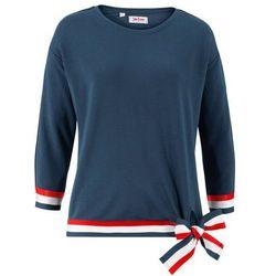Bluza z rękawami 3/4 bonprix ciemnoniebieski