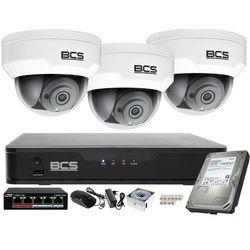 Monitoring wideo i audio firmy sklepu domu H.265 BCS Point 3x Kamera BCS-P-212RWSA + Akcesoria