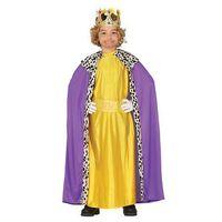 Przebrania dziecięce, Kostium Król fioletowo-złoty dla chłopca - 10-12 lat