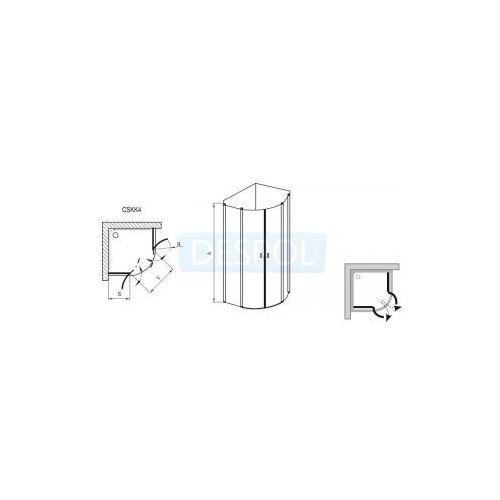 Kabiny prysznicowe, Ravak Chrome 80 x 80 (3Q140C00Z1)