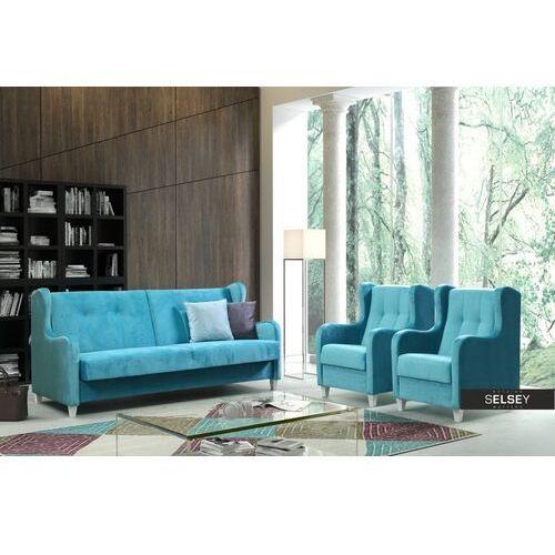 Sofy, SELSEY Komplet wypoczynkowy Awangarda sofa i dwa fotele