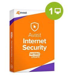 Avast Internet Security – 1-rok / 1 PC (AVS-AIS1YR-0001) elektroniczny certyfikat