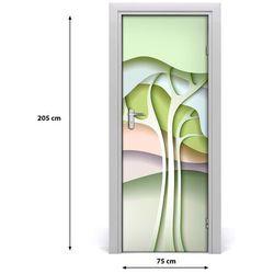 Naklejka samoprzylepna na drzwi Abstrakcyjne drzewo