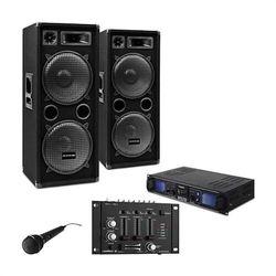 """Electronic-Star Zestaw PA DJ""""DJ-27"""" – wzmacniacz PA kolumny 2000W USB SD MP3"""