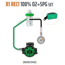 TECLINE R1 REC1 100% O2 M26X2 Z MANOMETREM, ZESTAW STAGE - EN250