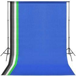 vidaXL Wyposażenie studia fotograficznego, przenośne tło 5 kolorów Darmowa wysyłka i zwroty