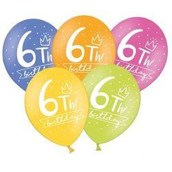 Balony pastelowe My 6th! bday mix kolorów - 30 cm - 50 szt.