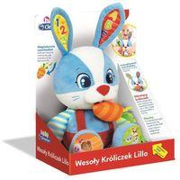 Pozostałe zabawki, CLEMENTONI BABY Interaktywna maskotka Wesoły króliczek Lillo z marchewką 50073