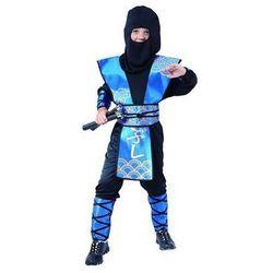Kostium Ninja niebieski - M - 120/130 cm