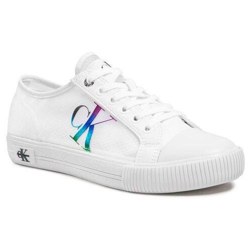 Damskie obuwie sportowe, Trampki CALVIN KLEIN JEANS - Vulcanized Sneaker Laceup Trn Pa YW0YW00044 Bright White YAF