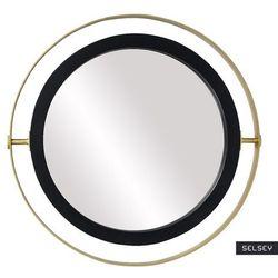 SELSEY Lustro dekoracyjne Guired średnica 90 cm czarno - złote