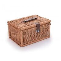 Pozostałe wyposażenie domu, Wiklinowy kuferek piknikowy kosz na piknik prezent