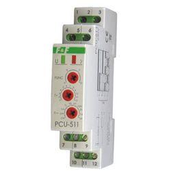 Przekaźnik czasowy 1P 8A 0,1-576h 230V AC, 24V AC/DC wielofunkcyjny PCU-511 DUO F&f