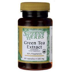 Swanson Green Tea extract (Zielona herbata) 500mg 60 kaps.