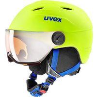 Kaski i gogle, UVEX Junior Visor Pro Kask Dzieci, neon yellow mat 54-56cm 2019 Kaski narciarskie