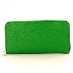 Modny duży portfel z naturalnej skóry Marco Mazzini P115G Green Prato - Mazzini