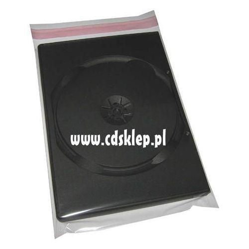 Pudełka i portfele na płyty, Koperty foliowe na pudełko DVD 14mm 152x200mm 50 mikron 100szt.