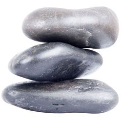 Kamienie bazaltowe do masażu z lawy wulkanicznej inSPORTline River Stone 10-12 cm - 3 szt.