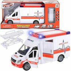 Auto ambulans, światło, dźwięk