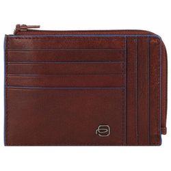 Piquadro Blue Square Special Etui na karty RFID skórzana 12,5 cm dark brown ZAPISZ SIĘ DO NASZEGO NEWSLETTERA, A OTRZYMASZ VOUCHER Z 15% ZNIŻKĄ