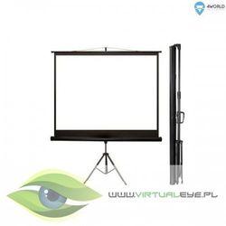 4world Ekran projekcyjny na statywie 220x165 110 cali