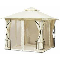 Pawilon ogrodowy, altana, namiot, moskitiera, 300x300cm, beżowy