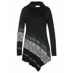 Długi sweter bonprix czarny