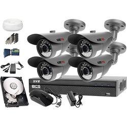 Monitoring dla sklepu hurtowni: Rejestrator BCS z dyskiem 1TB + 4x LV-AL20MT + Akcesoria
