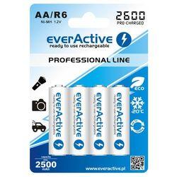 4x akumulatorki everActive R6/AA Ni-MH 2600 mAh ready to use