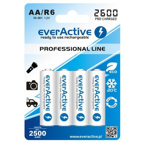 Akumulatorki, 4x akumulatorki everActive R6/AA Ni-MH 2600 mAh ready to use