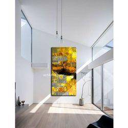 Żółto szare złudzenie - abstrakcyjne obrazy do modnego salonu rabat 10%