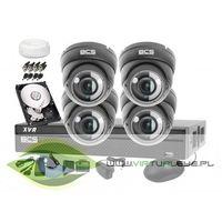 Zestawy monitoringowe, Zestaw do monitoringu: BCS-XVR0401+ 4x Kamera BCS-DMQ4200IR3+ Dysk 1TB + Akcesoria