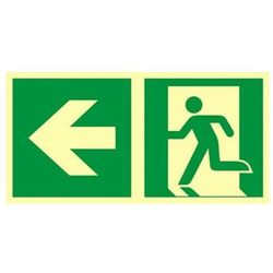 znak kierunek do wyjścia ewakuacyjnego w lewo