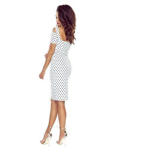 Suknie i sukienki, Seksowna sukienka ołówkowa w grochy