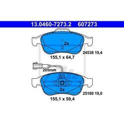 KLOCKI HAM ATE 13.0460-7273.2 ALFA GIULIETTA 1.4TB 116KM 10-, 1.6JTDM 105KM 10-