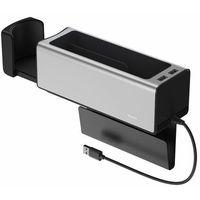 Pozostałe akcesoria do samochodu, Baseus samochodowy organizer uchwyt na kubek HUB 2x USB do ładowania srebrny (CRCWH-A0S) - Srebrny