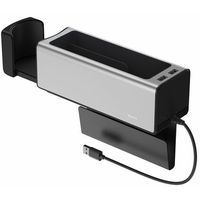 Pozostałe akcesoria do samochodu, Baseus samochodowy organizer uchwyt na kubek HUB 2x USB do ładowania srebrny (CRCWH-A0S)