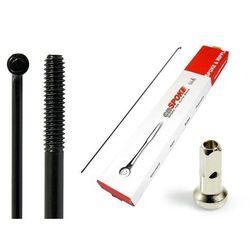 Szprychy CNSPOKE STD14 2.0-2.0-2.0 stal nierdzewna 290mm czarne + nyple 144szt.