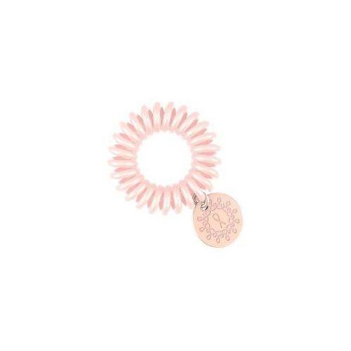 Gumki do włosów, Invisibobble Pink Heroes, różowa gumka z przywieszką