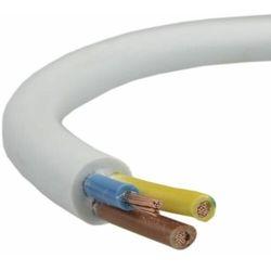 Przewód mieszkaniowy H03VV-F (OMY) 3x0,5 żo biały 300/300V /100m/