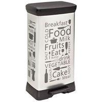 Kosze na śmieci, Kosz na śmieci CURVER Kitchen 02162-K07-02 50l Srebrny