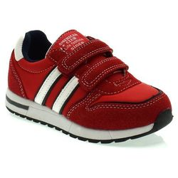 Dziecięce buty sportowe American Club ES10/20 Czerwone - Czerwony